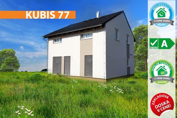 Dvojposchodový montovaný drevodom Kubis 77